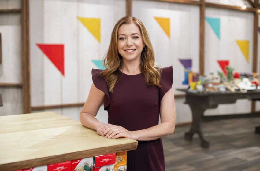 Host Alyson Hannigan, as seen on Girl Scout Cookie Championship, Season 1. photo provided by Food Network