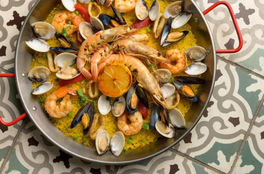 Seafood paella, photo provided by Centerplate
