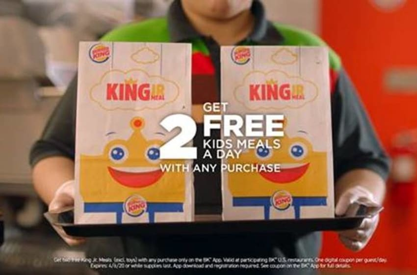 Burger King 2 free kids meal promotion, photo provided by Burger King