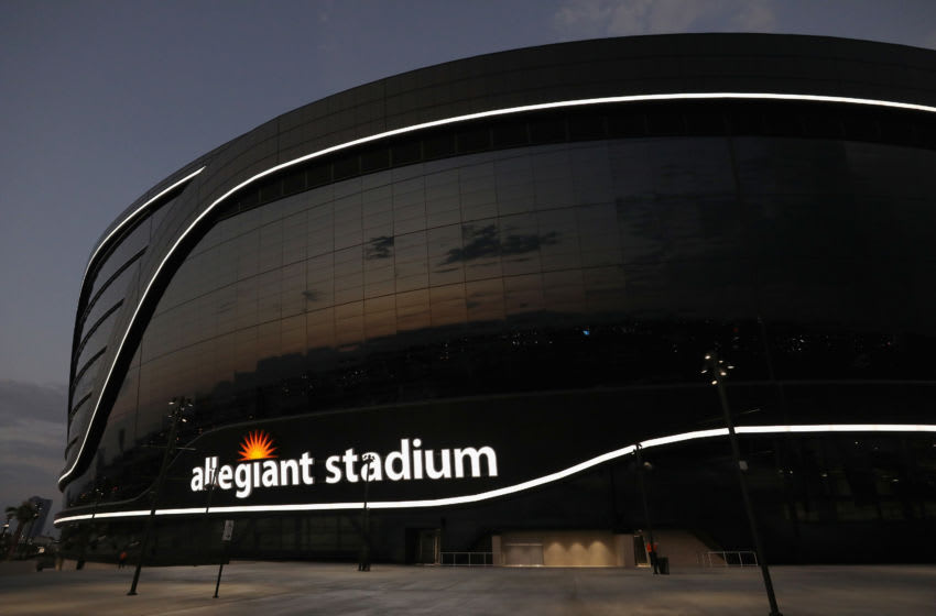 LAS VEGAS, NEVADA - SEPTEMBER 21: General view outside of Allegiant Stadium during the NFL game between the New Orleans Saints and the Las Vegas Raiders on September 21, 2020 in Las Vegas, Nevada. The Raiders defeated the Saints 34-24. (Photo by Christian Petersen/Getty Images)