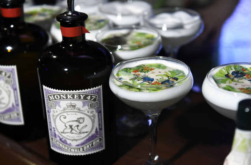 NEW YORK, NEW YORK - APRIL 27: A view of Monkey 47 Gin at the Monkey 47 Gin Celebrates