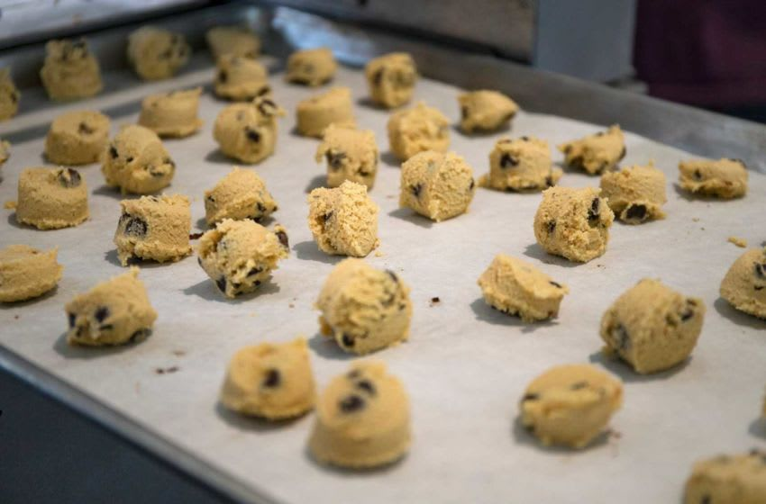 Barksdale cookies are prepared on July 31, 2020 at the Iowa State Fairgrounds. Two