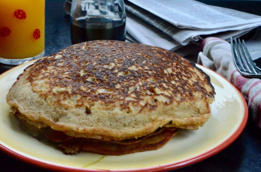 Brown and buttery, these pancakes have those desirable crispy edges and are quite fluffy. Pancake1