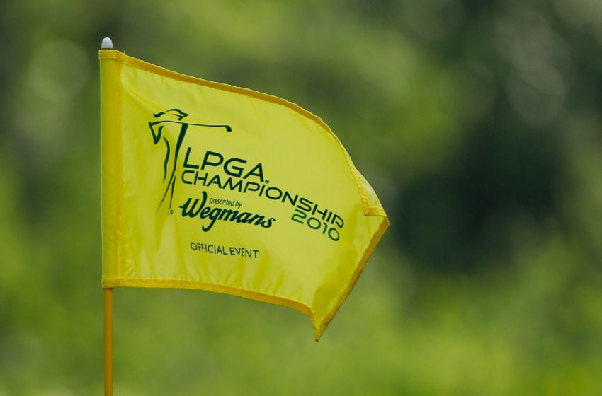 A flagstick is seen during a practice round prior to the start of the LPGA Championship presented by Wegman's 2010 at the Locust Hill Country Club on June 23, 2010 in Pittsford, New York (Photo by Scott Halleran/Getty Images)