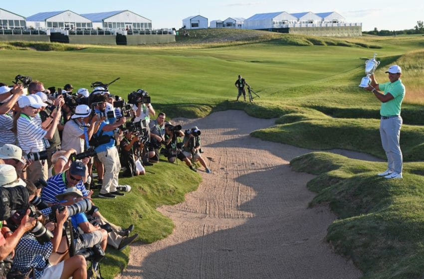 Erin Hills, Hartford, WI. (Photo by Ross Kinnaird/Getty Images)