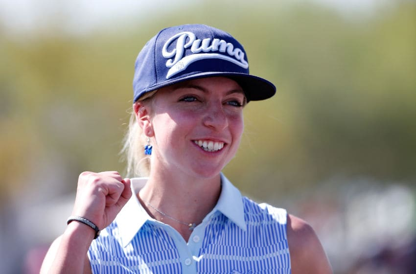 PHOENIX, AZ - MARCH 22: Sophia Popov of Germany following the final round of the LPGA Founders Cup at Wildfire Golf Club on March 22, 2015 in Phoenix, Arizona. (Photo by Christian Petersen/Getty Images)