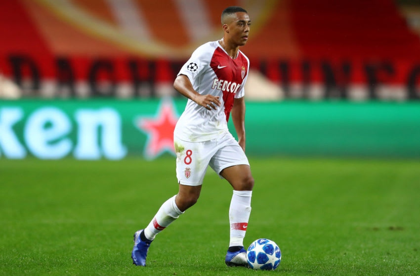 MONACO, MONACO - NOVEMBER 06: Youri Tielemans of Monaco during the Group A match of the UEFA Champions League between AS Monaco and Club Brugge at Stade Louis II on November 06, 2018 in Monaco, Monaco. (Photo by Michael Steele/Getty Images)