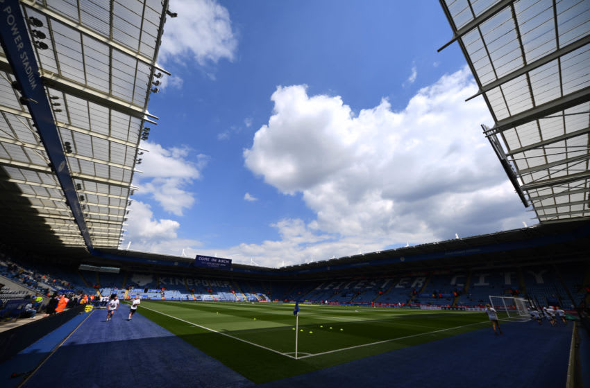 LEICESTER, ENGLAND - MAY 12: General view inside the stadium prior to the Premier League match between Leicester City and Chelsea FC at The King Power Stadium on May 12, 2019 in Leicester, United Kingdom. (Photo by Clive Mason/Getty Images)