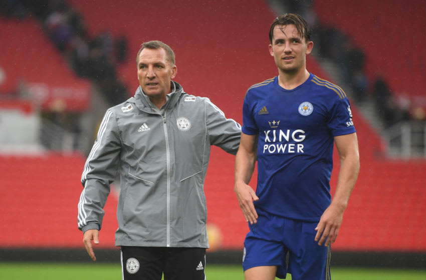 Brendan Rodgers, Ben Chilwell of Leicester City (Photo by Michael Regan/Getty Images)