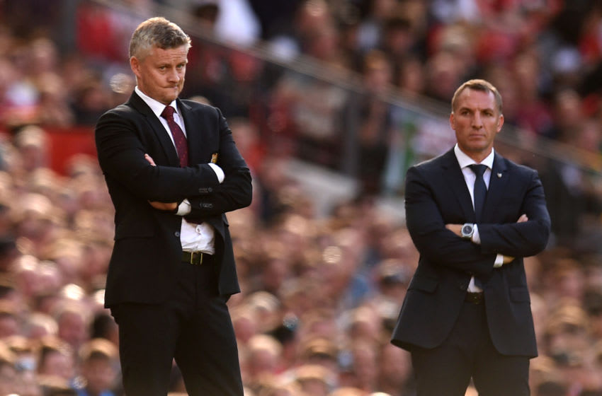 Ole Gunnar Solskjaer, Brendan Rodgers (OLI SCARFF/AFP via Getty Images)