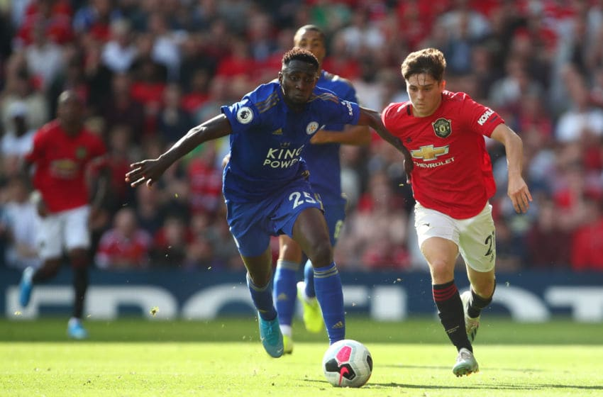 MANCHESTER, ENGLAND - SEPTEMBER 14: Daniel James of Manchester United during the Premier League match between Manchester United and Leicester City at Old Trafford on September 14, 2019 in Manchester, United Kingdom. (Photo by Robbie Jay Barratt - AMA/Getty Images)