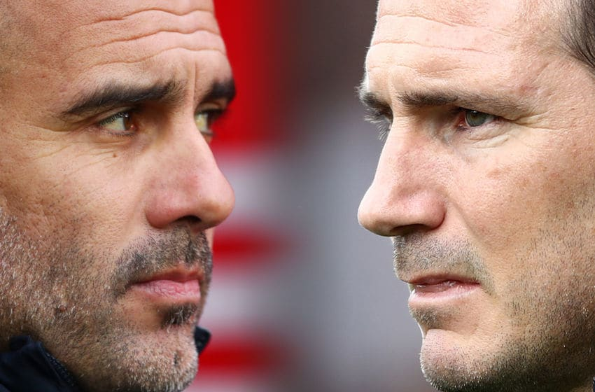 Pep Guardiola, Frank Lampard (Composite Photo by Dan Istitene/Getty Images (Photo by Bryn Lennon/Getty Images))