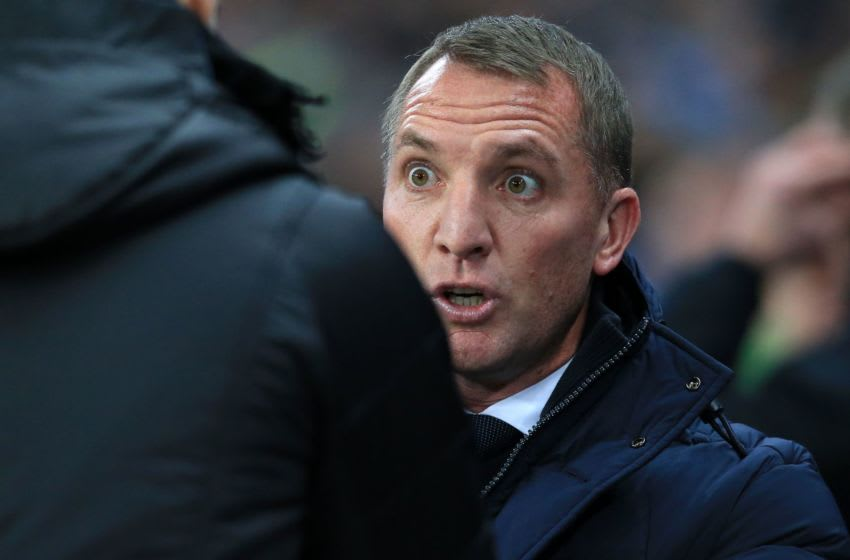 Leicester City's Brendan Rodgers (Photo by LINDSEY PARNABY/AFP via Getty Images)