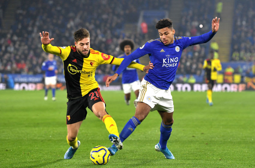 James Justin of Leicester City (Photo by Michael Regan/Getty Images)