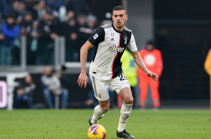 TURIN, ITALY - JANUARY 06: Merih Demiral of Juventus during the Serie A match between Juventus and Cagliari Calcio at Allianz Stadium on January 6, 2020 in Turin, Italy. (Photo by Chris Ricco/Getty Images)