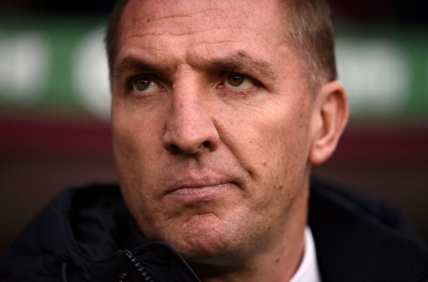 Leicester City's Brendan Rodgers (Photo by OLI SCARFF/AFP via Getty Images)