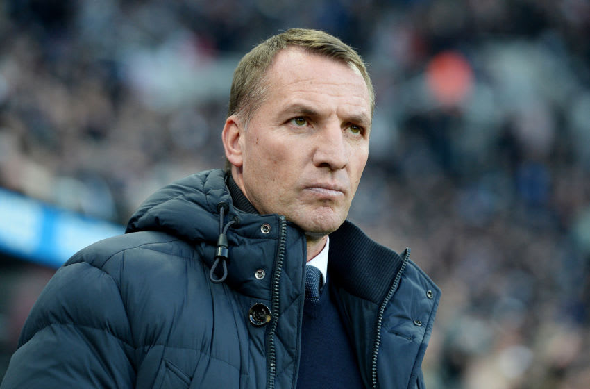 NEWCASTLE UPON TYNE, ENGLAND - JANUARY 01: Brendan Rodgers, Manager of Leicester City looks on ahead of Premier League match between Newcastle United and Leicester City at St. James Park on January 01, 2020 in Newcastle upon Tyne, United Kingdom. (Photo by Mark Runnacles/Getty Images)