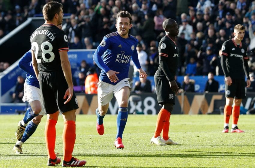 Leicester City's Ben Chilwell (Photo by ADRIAN DENNIS/AFP via Getty Images)