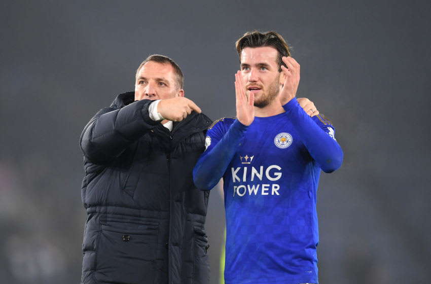 Brendan Rodgers, Ben Chilwell, Leicester City (Photo by Michael Regan/Getty Images)