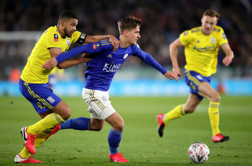 Dennis Praet of Leicester City (Photo by Alex Pantling/Getty Images)