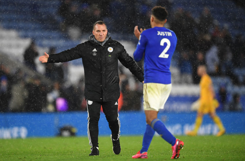 Leicester City, Brendan Rodgers, James Justin (Photo by Michael Regan/Getty Images)
