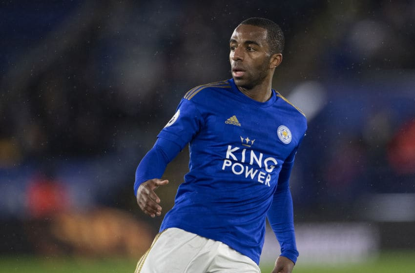 LEICESTER, ENGLAND - MARCH 09: Ricardo Domingos Barbosa Pereira of Leicester City during the Premier League match between Leicester City and Aston Villa at The King Power Stadium on March 09, 2020 in Leicester, United Kingdom. (Photo by Visionhaus)