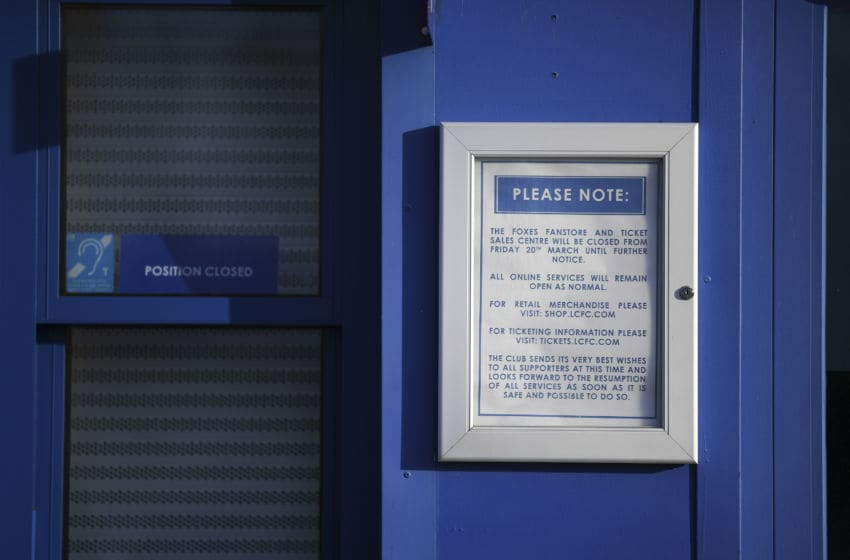 A sign, King Power Stadium (Photo by Michael Regan/Getty Images)
