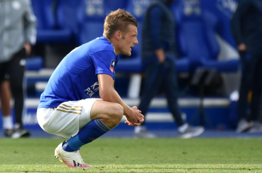 Leicester City's Jamie Vardy (Photo by RUI VIEIRA/POOL/AFP via Getty Images)