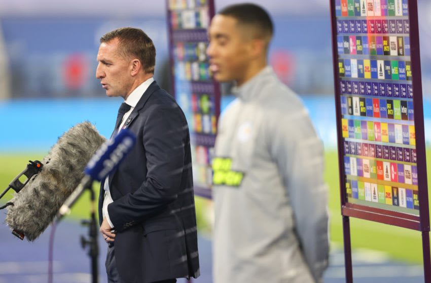 Brendan Rogers, Leicester City, Youri Tielemans (Photo by Matthew Ashton - AMA/Getty Images,)