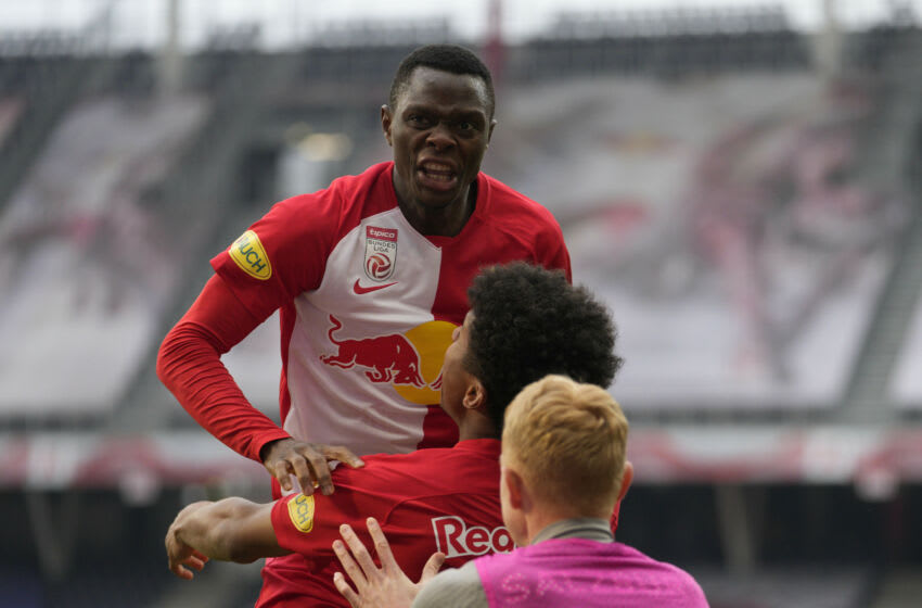 Patson Daka of Salzburg and now with Leicester City (Photo by Guenther Iby/SEPA.Media /Getty Images)