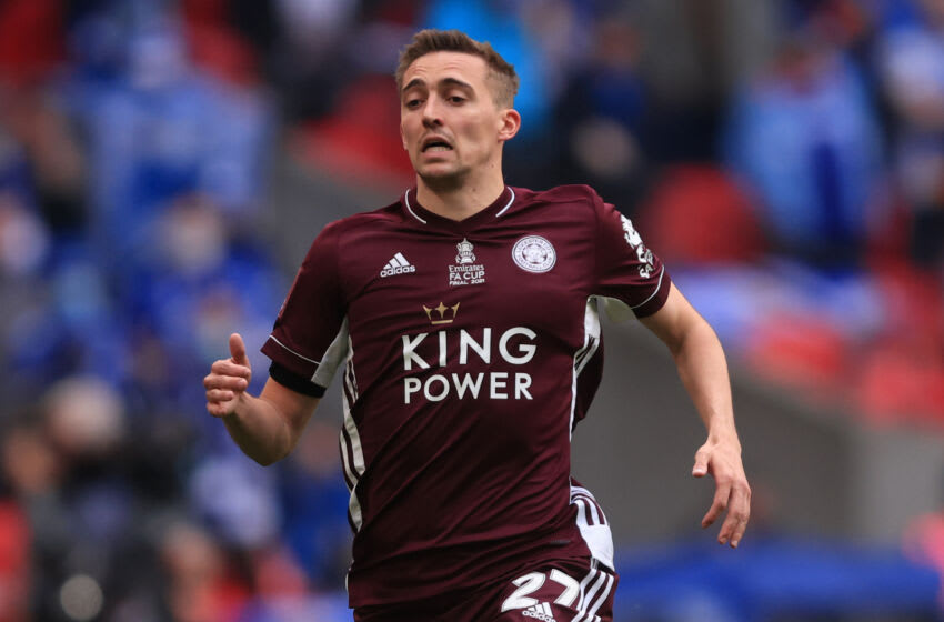 Timothy Castagne of Leicester City (Photo by Marc Atkins/Getty Images)