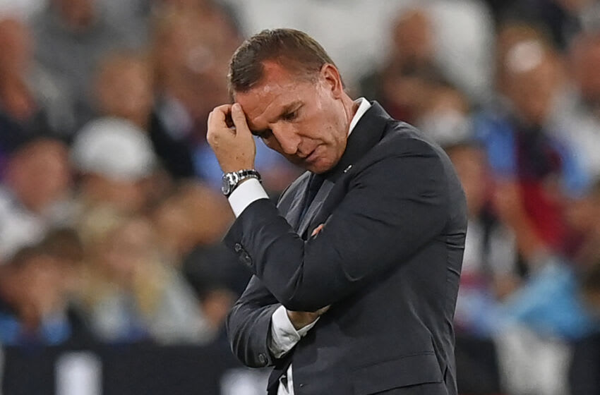 Leicester City's Northern Irish manager Brendan Rodgers (Photo by GLYN KIRK/AFP via Getty Images)