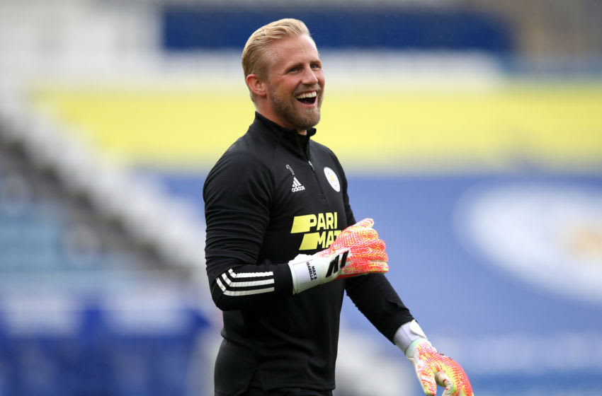 LEICESTER, ENGLAND - OCTOBER 04: Kasper Schmeichel of Leicester City (Photo by Alex Pantling/Getty Images)