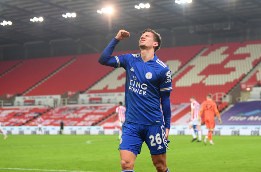 Dennis Praet of Leicester City (Photo by Michael Regan/Getty Images)