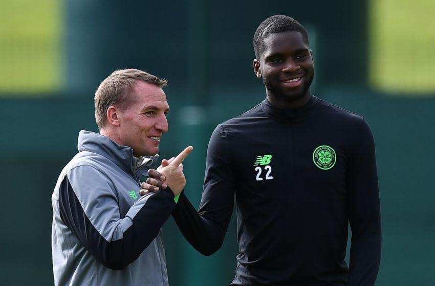 Brendan Rodgers, Odsonne Edouard, Celtic (FRANCK FIFE/AFP via Getty Images)