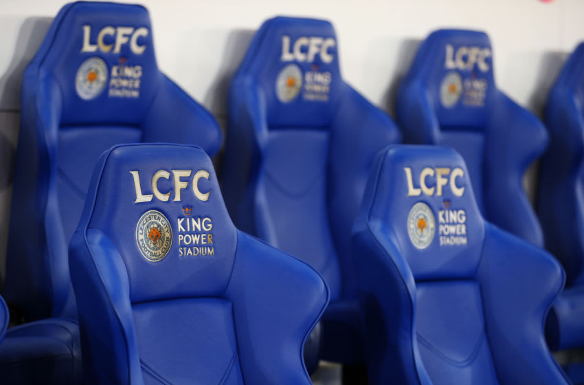 Leicester City bench (Photo by Catherine Ivill/Getty Images)