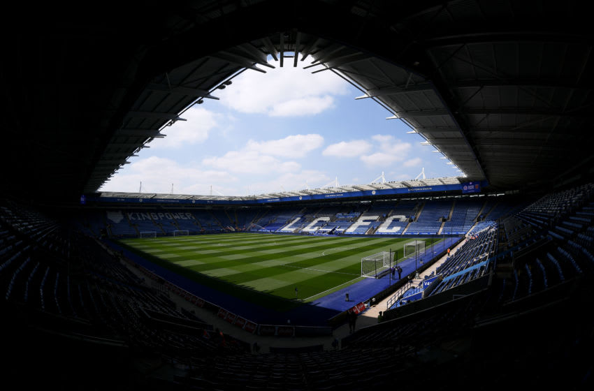 LEICESTER, ENGLAND - MAY 05: General view inside the stadium ahead of the Premier League match between Leicester City and West Ham United at The King Power Stadium on May 5, 2018 in Leicester, England. (Photo by Laurence Griffiths/Getty Images)