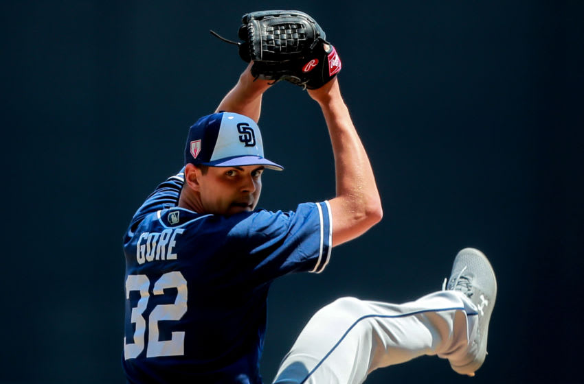MEXICO CITY, MEXICO - MARCH 24: Mackenzie Gore of San Diego Padres pitches in the 3rd inning during the friendly game between San Diego Padres and Diablos Rojos at Alfredo Harp Helu Stadium on March 24, 2019 in Mexico City, Mexico. (Photo by Hector Vivas/Getty Images)
