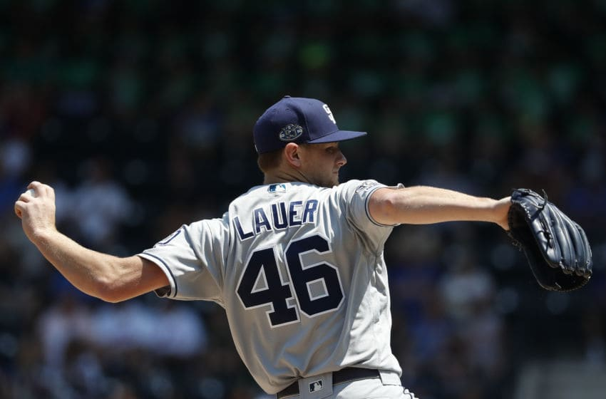 NEW YORK, NEW YORK - JULY 25: Eric Lauer #46 of the San Diego Padres pitches in the first inning against the New York Mets at Citi Field on July 25, 2019 in New York City. (Photo by Michael Owens/Getty Images)