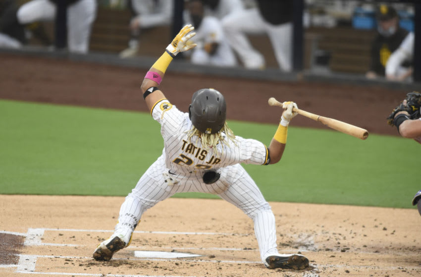 SAN DIEGO, CA - SEPTEMBER 8: Fernando Tatis Jr. #23 of the San Diego Padres plays during a baseball game against the Colorado Rockies at Petco Park on September 8, 2020 in San Diego, California. (Photo by Denis Poroy/Getty Images)