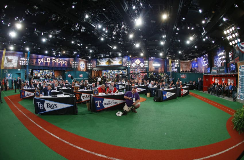 SECAUCUS, NJ - JUNE 5: Representatives from all 30 Major League Baseball teams fill Studio 42 during the MLB First-Year Player Draft at the MLB Network Studio on June 5, 2014 in Secacucus, New Jersey. (Photo by Rich Schultz/Getty Images)