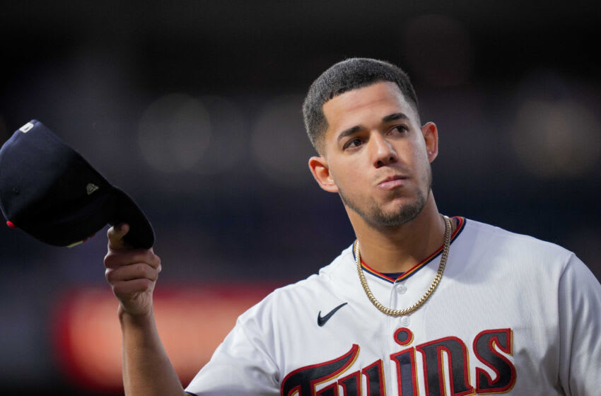 Jose Berrios of the Twins is a Padres trade target. Mandatory Credit: Brad Rempel-USA TODAY Sports