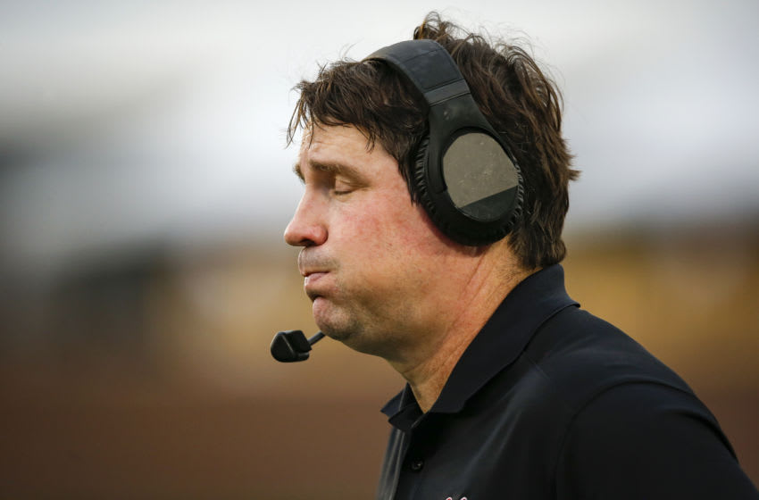 Head coach Will Muschamp of the South Carolina Gamecocks, Missouri. (Photo by David Eulitt/Getty Images)