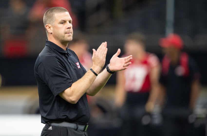 NEW ORLEANS, LA - AUGUST 31: Head coach Billy Napier of the Louisiana-Lafayette Ragin Cajuns at Mercedes Benz Superdome on August 31, 2019 in New Orleans, Louisiana. (Photo by Michael Chang/Getty Images)