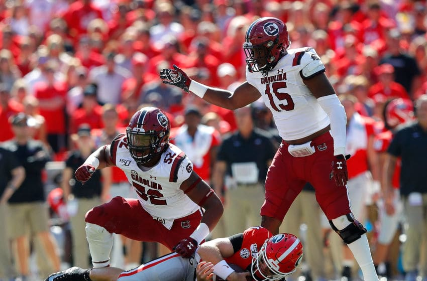 Kingsley Enagbare #52 and Aaron Sterling #15 of the South Carolina Gamecocks. (Photo by Kevin C. Cox/Getty Images)