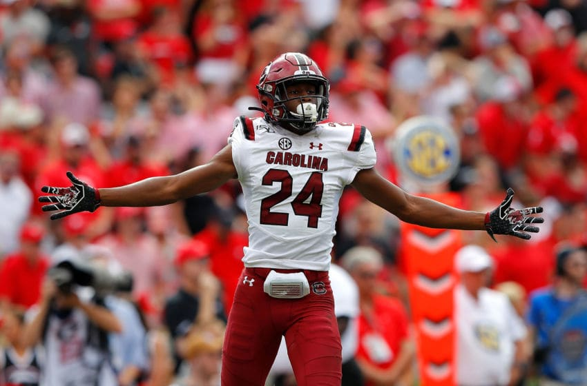 Israel Mukuamu #24 of the South Carolina Gamecocks. (Photo by Kevin C. Cox/Getty Images)