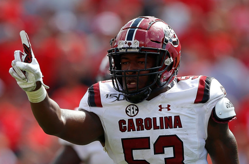 Ernest Jones #53 of the South Carolina Gamecocks. (Photo by Kevin C. Cox/Getty Images)