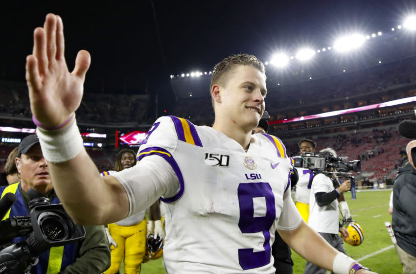 Joe Burrow #9 of the LSU Tigers. (Photo by Todd Kirkland/Getty Images)