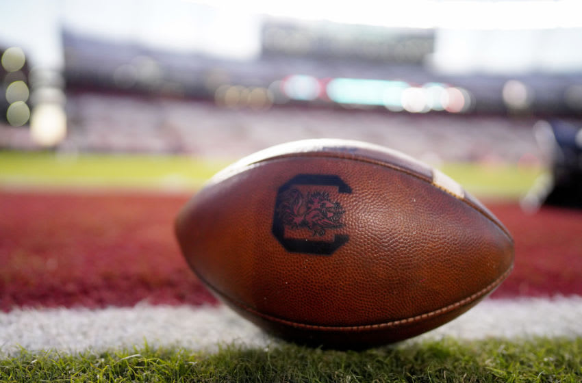 A South Carolina Gamecocks football before their game. (Photo by Jacob Kupferman/Getty Images)
