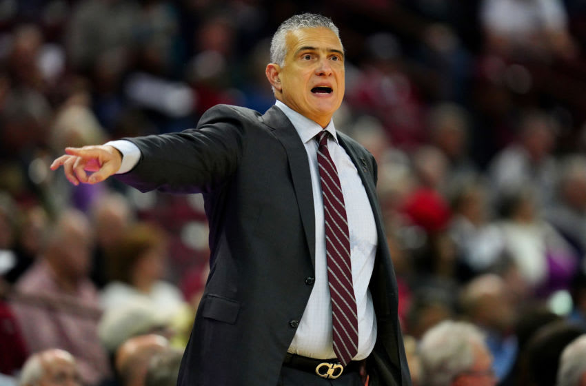 COLUMBIA, SOUTH CAROLINA - DECEMBER 08: Head coach Frank Martin of the South Carolina Gamecocks during the second half during their game against the Houston Cougars at Colonial Life Arena on December 08, 2019 in Columbia, South Carolina. (Photo by Jacob Kupferman/Getty Images)